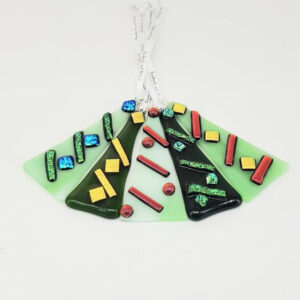 1 Fused Glass Christmas Tree Decoration